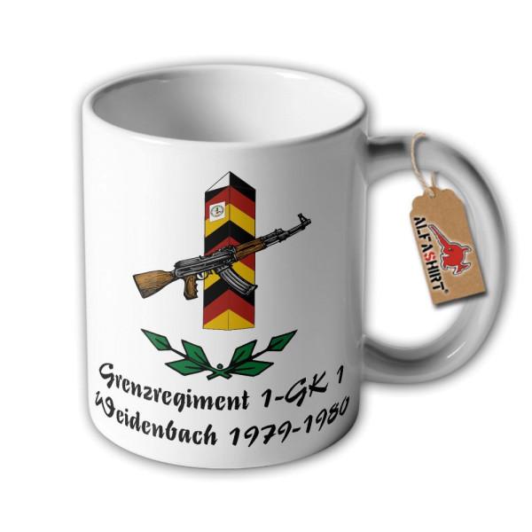 Tasse Grenzregiment 1 GK1 Weidenbach 1979 1980 DDR NVA Grenzschutztruppen #33836
