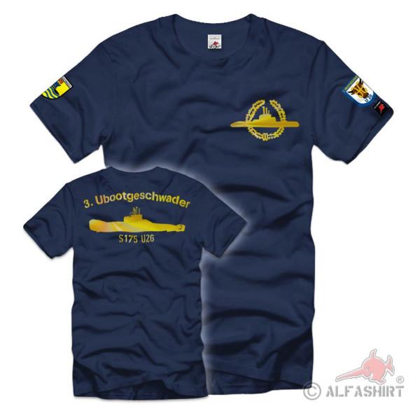 3 Ubootgeschwader U26 S175 U-Boot Bundes-Marine Bundeswehr T-Shirt # 36480