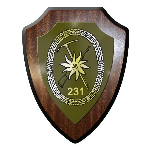 Wappenschild - Gebirgsjägerbataillon 231 GebJgBtl Bundeswehr BW Edelweiss #9012