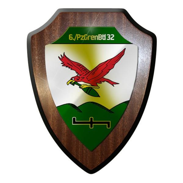 Wappenschild - 6. PzGrenBtl 32 Panzer Grenadiere Bataillon Militär #8898