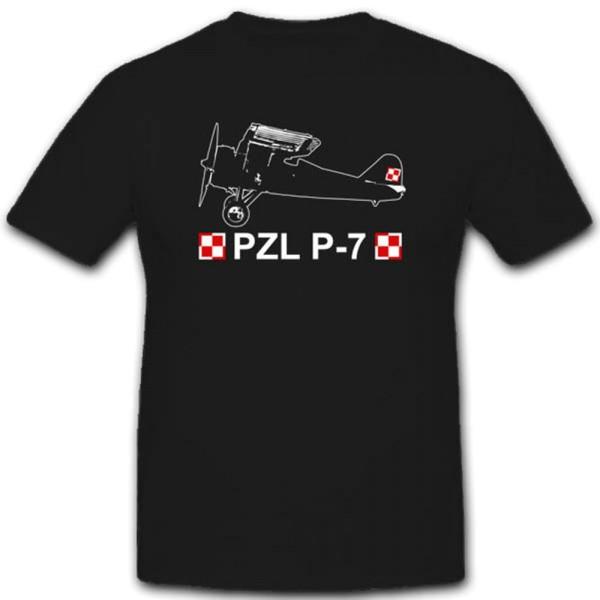 Luftwaffe Einheit Pzl-P7 Polnisches Jagdflugzeug T Shirt #2529