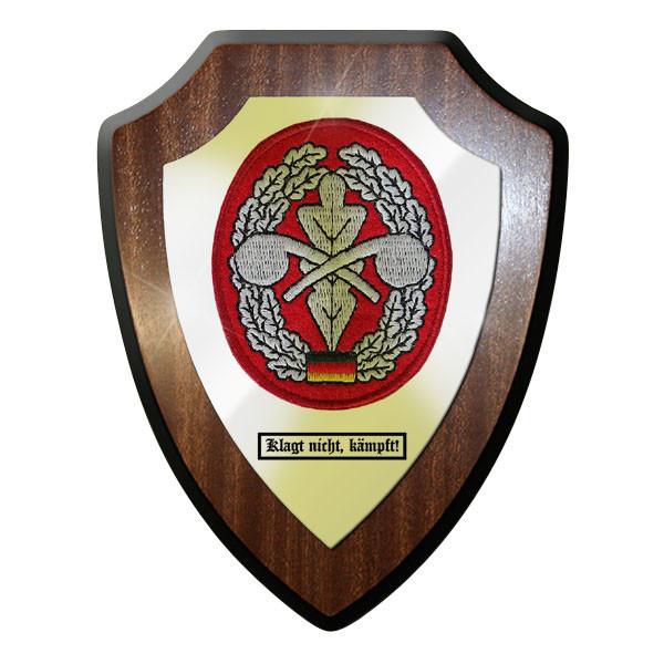Wappenschild / Wandschild - ABC Abwehr Trupper klagt nicht, kämpft! #11677