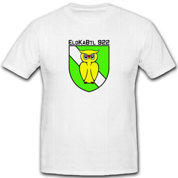 EloKaBtl 922 elektronische Kampfführung Bundeswehr Bw - T Shirt #6514