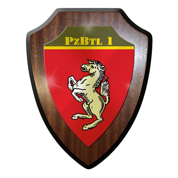 Wappenschild / Wandschild / Wappen - PzBtl 1 Panzer Bataillon Emblem #11637