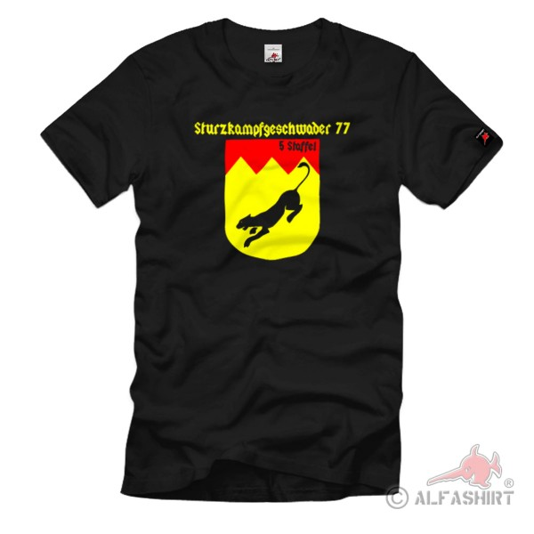 Wappen der 5. Staffel SKG 77 Sturzkampfgeschwader Einheit Emble - T Shirt #1073