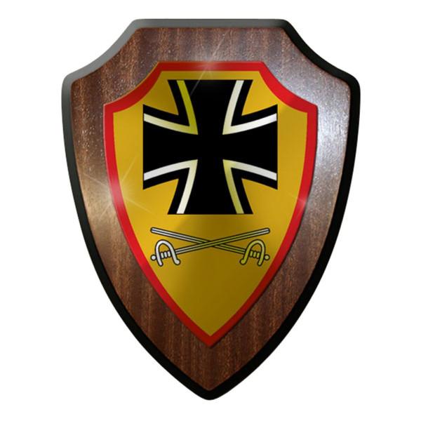 Wappenschild / Wandschild -Heeresunteroffizierschule 1 Bundeswehr Münster #7315