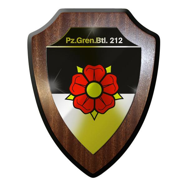 Wappenschild - PzGrenBtl 212 Panzer Grenadier Bataillon dran drauf drüber #9272