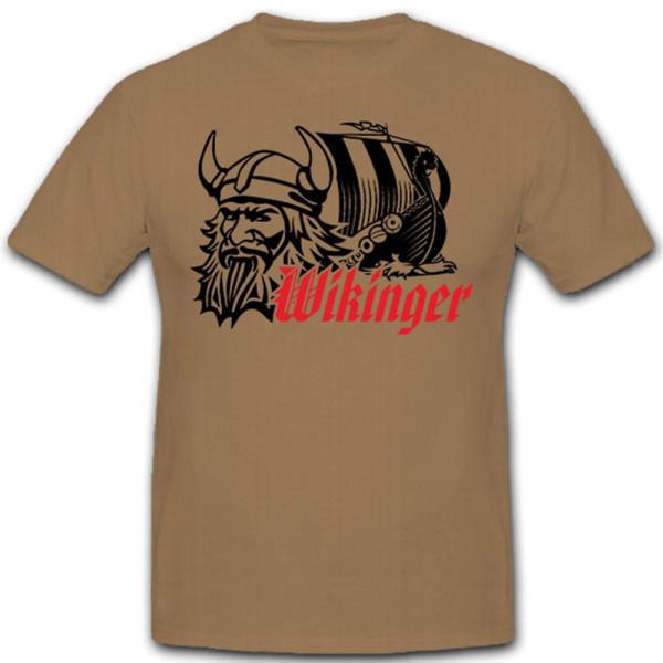 Wikinger Drachenboot Segelschiff Hörnerhelm Nordmann Odin Thor - T Shirt #9363