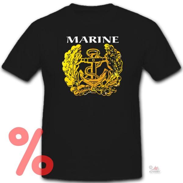 Gr. L - SALE Shirt Marine deutsche Marine Eichenlaub Anker Bundeswehr #R1081
