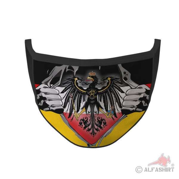 Mund Maske Königreich Preußen Adler Heiligen Römischen Reich Heimat #35815