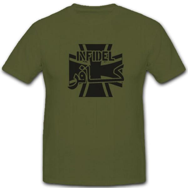 Allied Star Infidel Ungläubig Islam Heiliger Krieg Bw Kreuz - T Shirt #4005