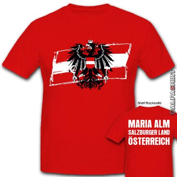 Maria Alm Salzburger Land Austria Alps Eagle Coat of Arms - T Shirt # 12326