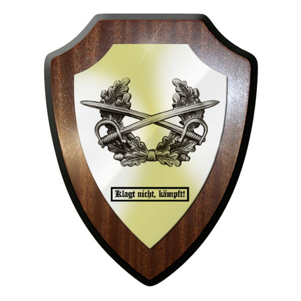Wappenschild - Klagt nicht, kämpft! Heer Soldaten Offizier Mützenkranz - #11765
