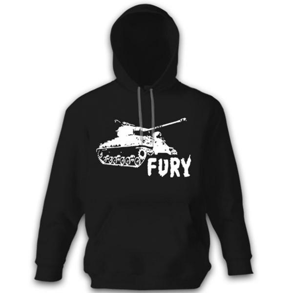 FURY Sherman Firefly Tank Cinema Movie Heart - Hoodie # 12615
