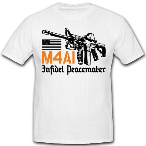 M4A1 Peacemaker Frieden Gewehr Sturmgewehr US - T Shirt #12075