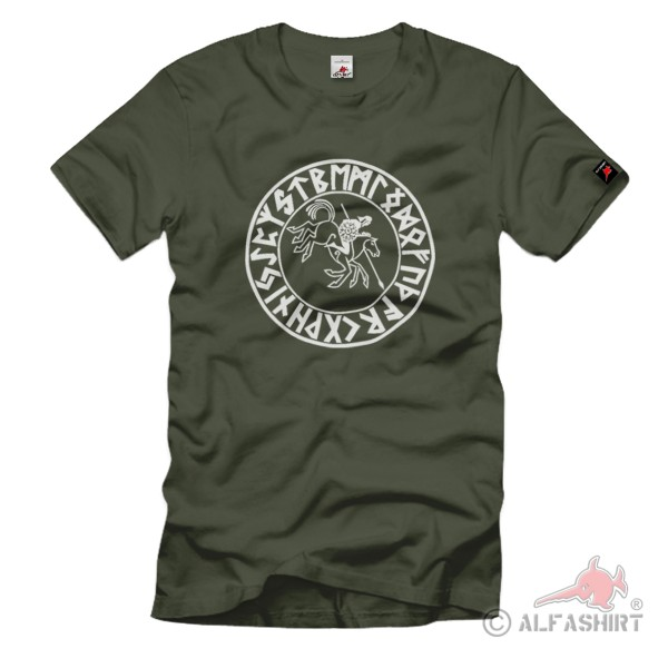 Wiking Reiter Germanisches Wikinger Skandinavische Bevölkerung - T Shirt #1225