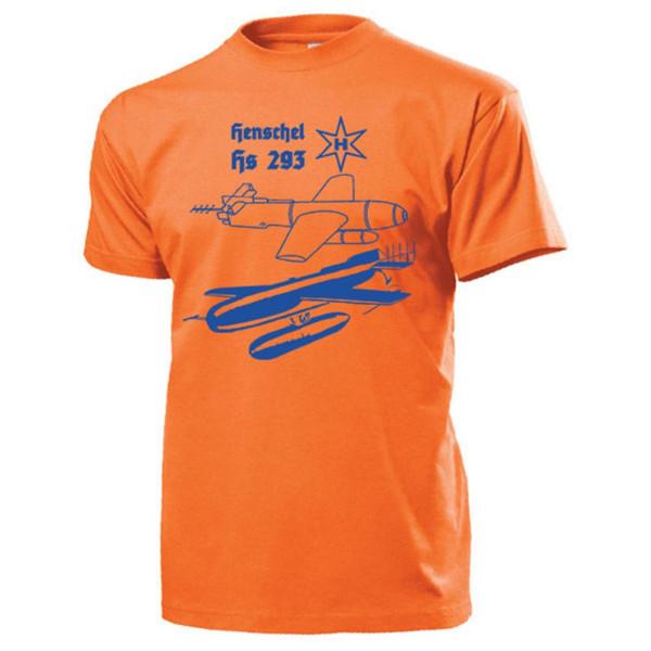 Hs 293 Funkferngesteuerte deutsche Luftwaffe Gleitbombe Wk - T Shirt #13379