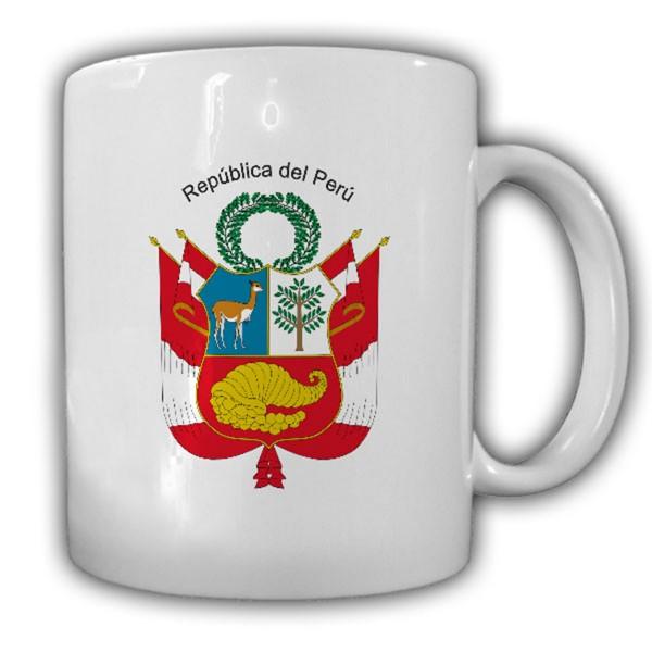 Republik Peru Wappen Emblem Kaffee Becher Tasse #13860