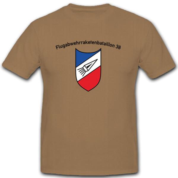 Flugabwehrraketenbataillon 38 FlAbwRakBtl Wappen Abzeichen - T Shirt #10389
