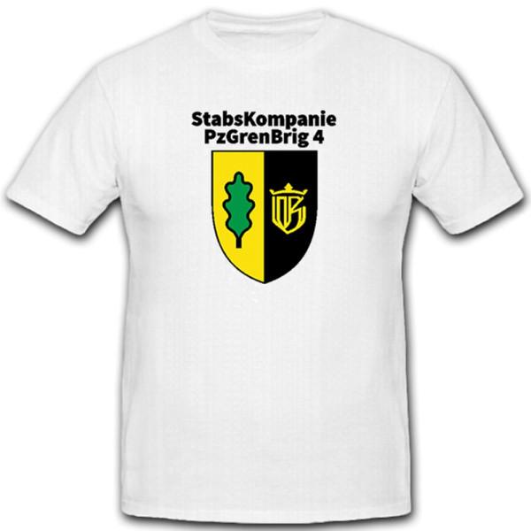 StabsKompanie PzGrenBrig 4 Panzergrenadier Brigade Bundeswehr - T Shirt #11346