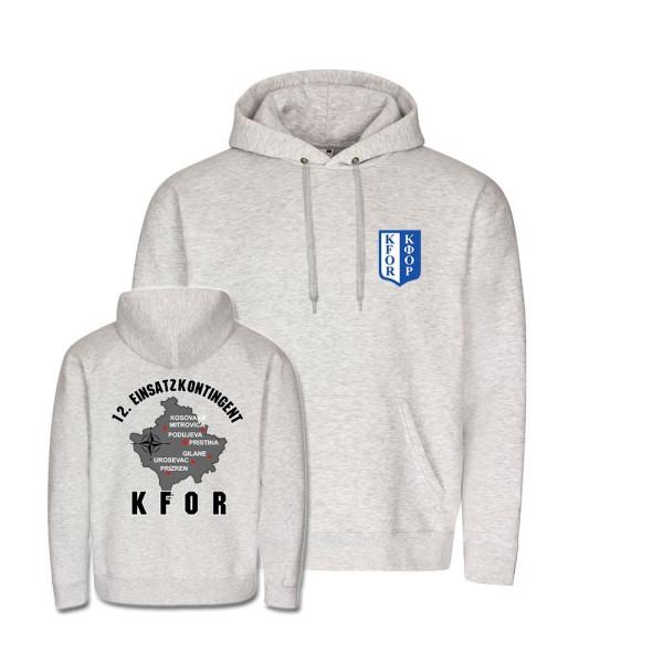 Hoodie 12 Einsatzkontingent KFOR Kosovo Nato Einsatz Balkan T-Shirt#35859