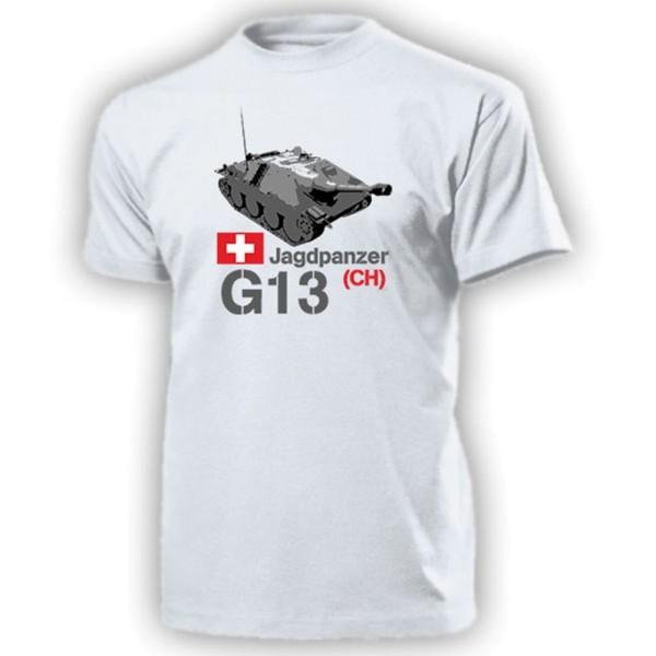 Jagdpanzer G13 CH Schweiz Hetzer Panzer 21 22 23 - T Shirt #13203