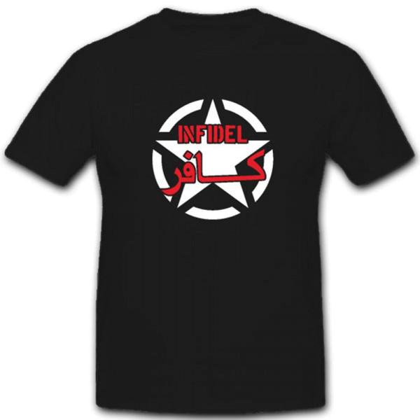 Infidel Ungläubig Islam Kreuzritter Ungläubiger- T Shirt #4004