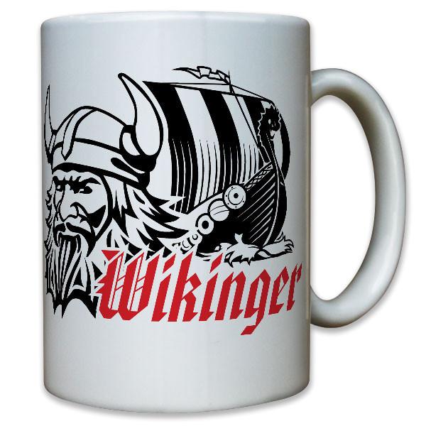 Wikinger Drachenboot Schiff Helm Odin Krieger Langschiff - Tasse #10892