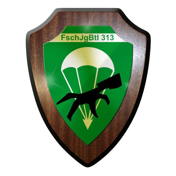 Wappenschild / Wandschild / Wappen - FschJgBtl 313 Fallschirmjäger #9252