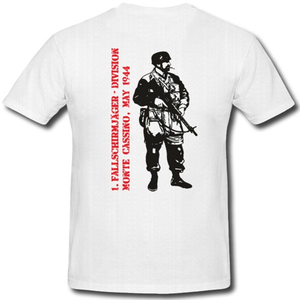 Fallschirmjäger Monte Cassino 1944 Wh Zweiter Weltkrieg - T Shirt #149