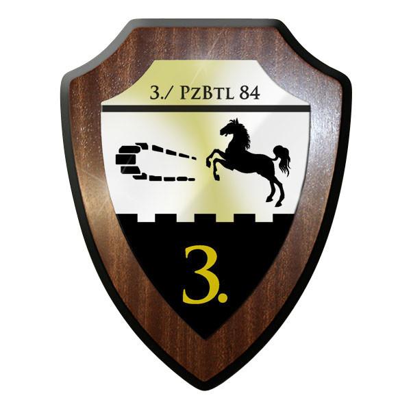 Wappenschild / Wandschild - 3. PzBtl 84 Panzer Bataillon Bundeswehr #11655