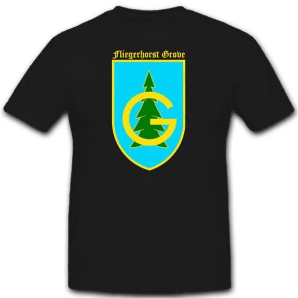 Fliegerhorst Grove WK Luftwaffe Wappen Emblem Abzeichen - T Shirt #2292