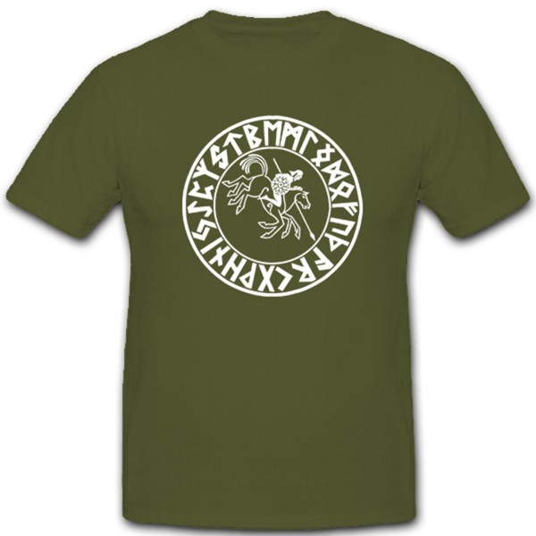 Wiking rider Germanic people Vikings Scandinavian population - T-shirt # 1225