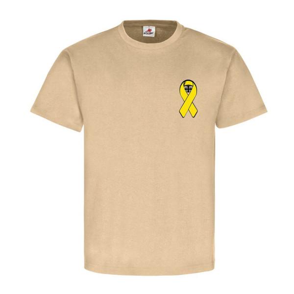 Gelbe Schleife mit Bundeswehrkreuz EK Bw Solidarität mit unseren - T Shirt #5443