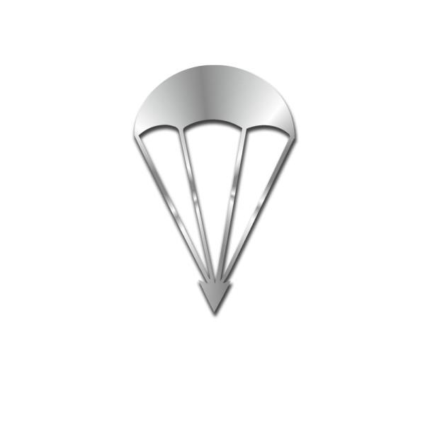 Parachute round cap silver paratrooper FschJg sticker 10x6cm # A5449