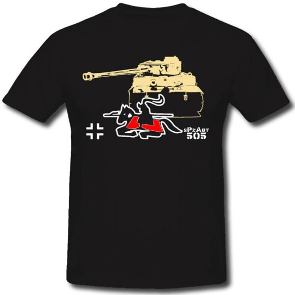 sPzAbt 505 Schwere Panzerabteilung Tiger Panzer WH Wappen Reiter - T Shirt #1285