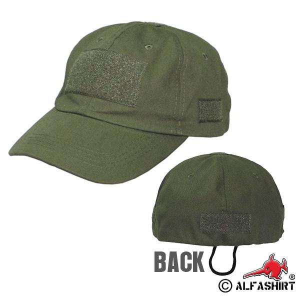 Einsatz Baseball Kappe Mütze Cap Klett Ausrüstung Universalgröße oliv #15795
