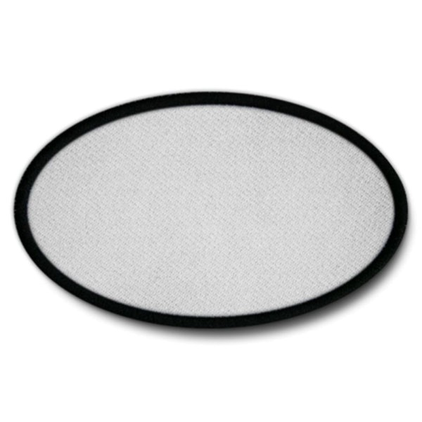 Aufnäher Oval Rohling Sublimationsdruck Bedruckbar Patch 75x45mm #16882