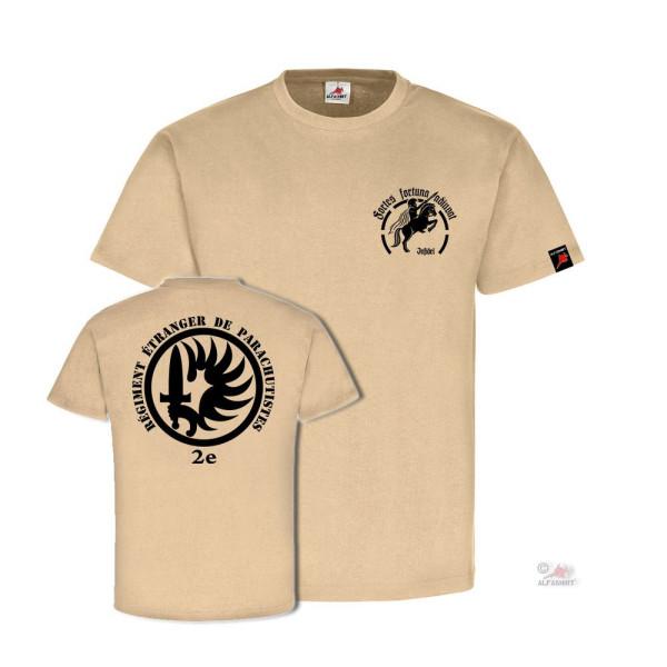 2e REP Fortes fortuna adiuvat Legion Fallschirmjäger Fremdenlegion T-Shirt#31579