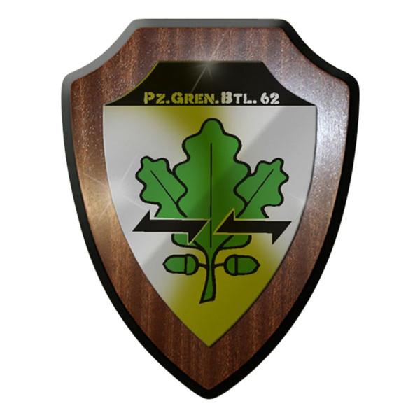 Wappenschild / Wandschild / Wappen - PzGrenBtl 62 Bw Infanterie Souvenir #6991