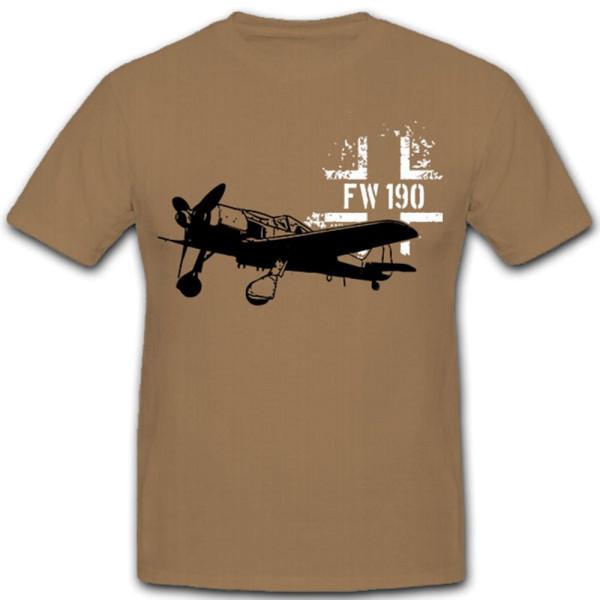 FW 190 Luftwaffe Airplane Balkenkreuz Germany Wütger - T Shirt # 12378