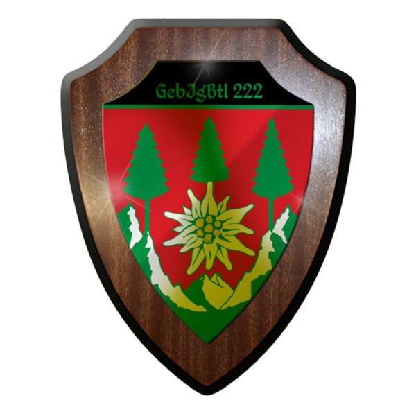 Wappenschild / Wandschild / Wappen - GebJgBtl Gebirgsjäger Bataillon 222 #8408