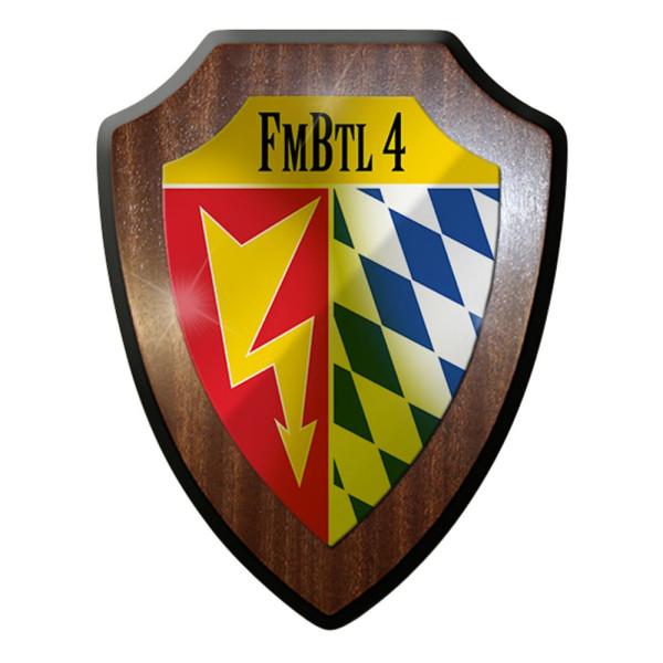 Wappenschild / Wandschild - Fmbtl 4 Bundeswehr Militär Abzeichen #7384