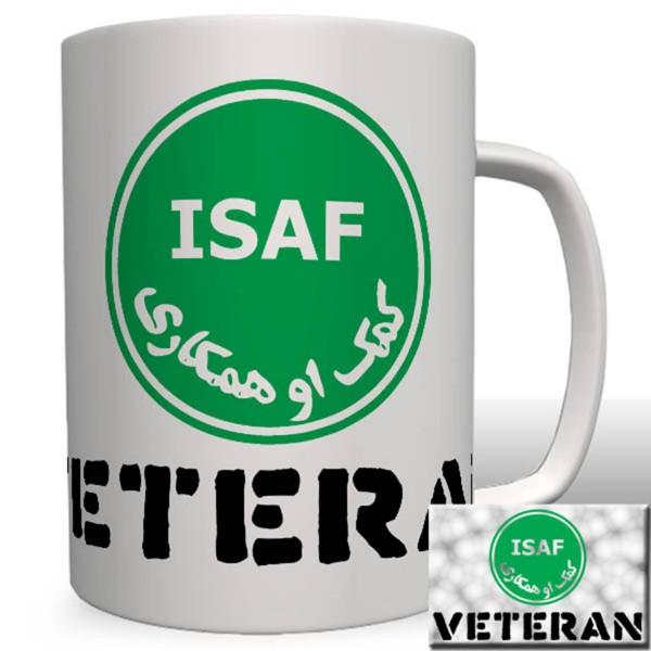 ISAF Veteranen Afghanistan Auslandseinsatz Bundeswehr BW Wappen Logo - Tasse Becher Kaffee #3176