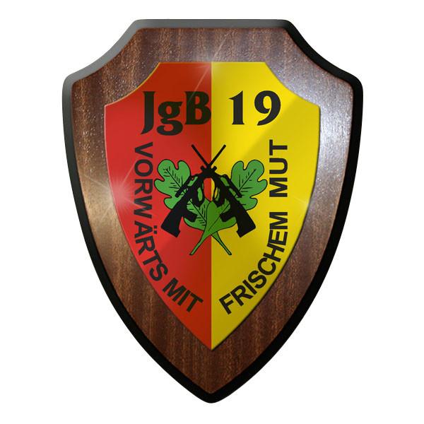 Wappenschild / Wandschild - JgB 19 Jäger Bataillon Österreich Austria #10088