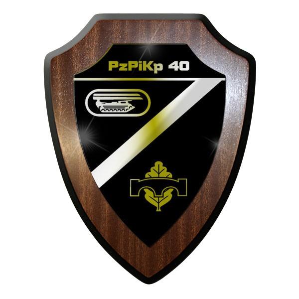 Wappenschild / Wandschild - PzPiKp 40 Panzer Pionier Kompanie - #11742