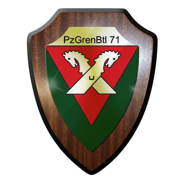 Wappenschild PzGrenBtl 71 PanzerGrenadierBataillon dran drauf drüber #9247