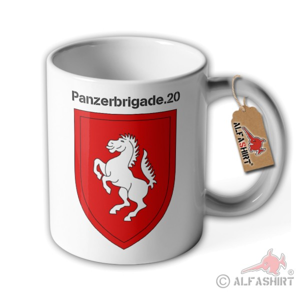 Cup Panzerbrigade 20 coat of arms wall sign PzBrig Bundeswehr BW Germany # 36199