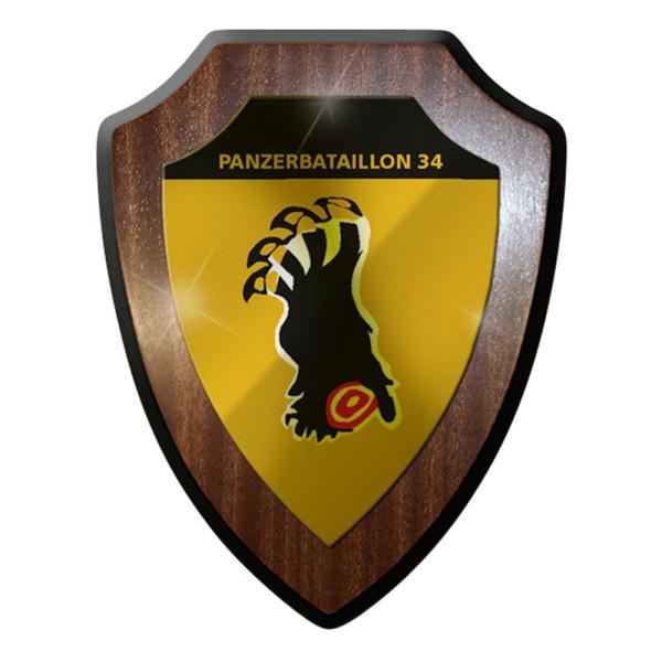 Wappenschild / Wandschild / Wappen - Panzerbataillon 34 PzBtl Panzer Heer #8343