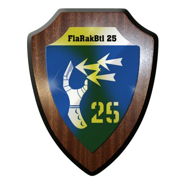 Wappenschild - FlaRakBtl 25 Flugabwehr Raketen Bataillon Bundeswehr Bw #10033